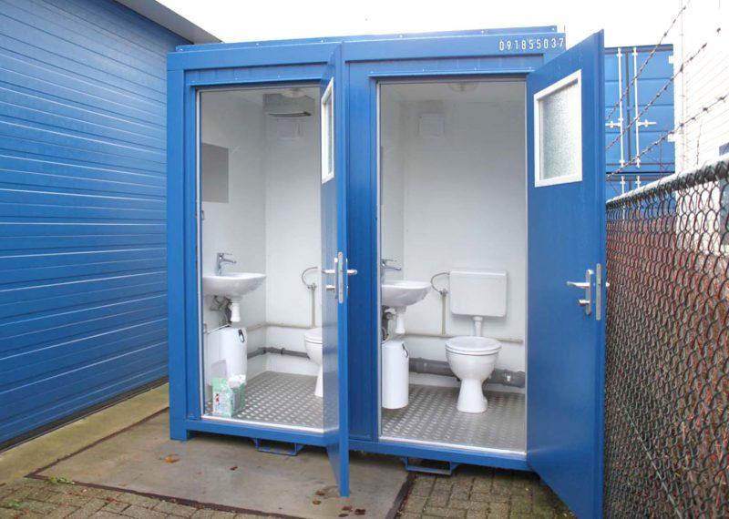 8ft-toilet unit blauw