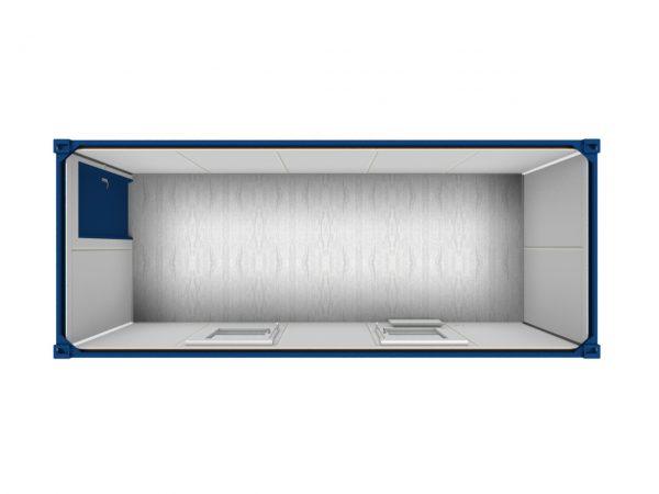 3D model van een kantoor unit aan de bovenzijde