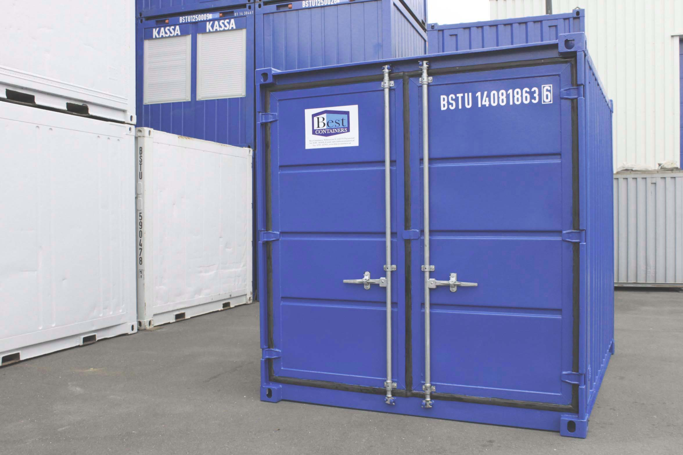 10ft Opslagcontainer front 03a