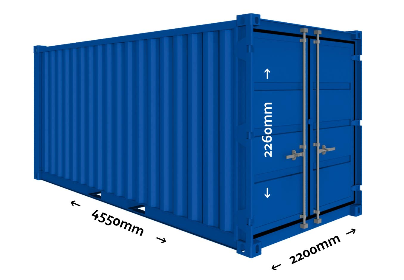 15 ft Opslagcontainer Containex 3D afbeelding