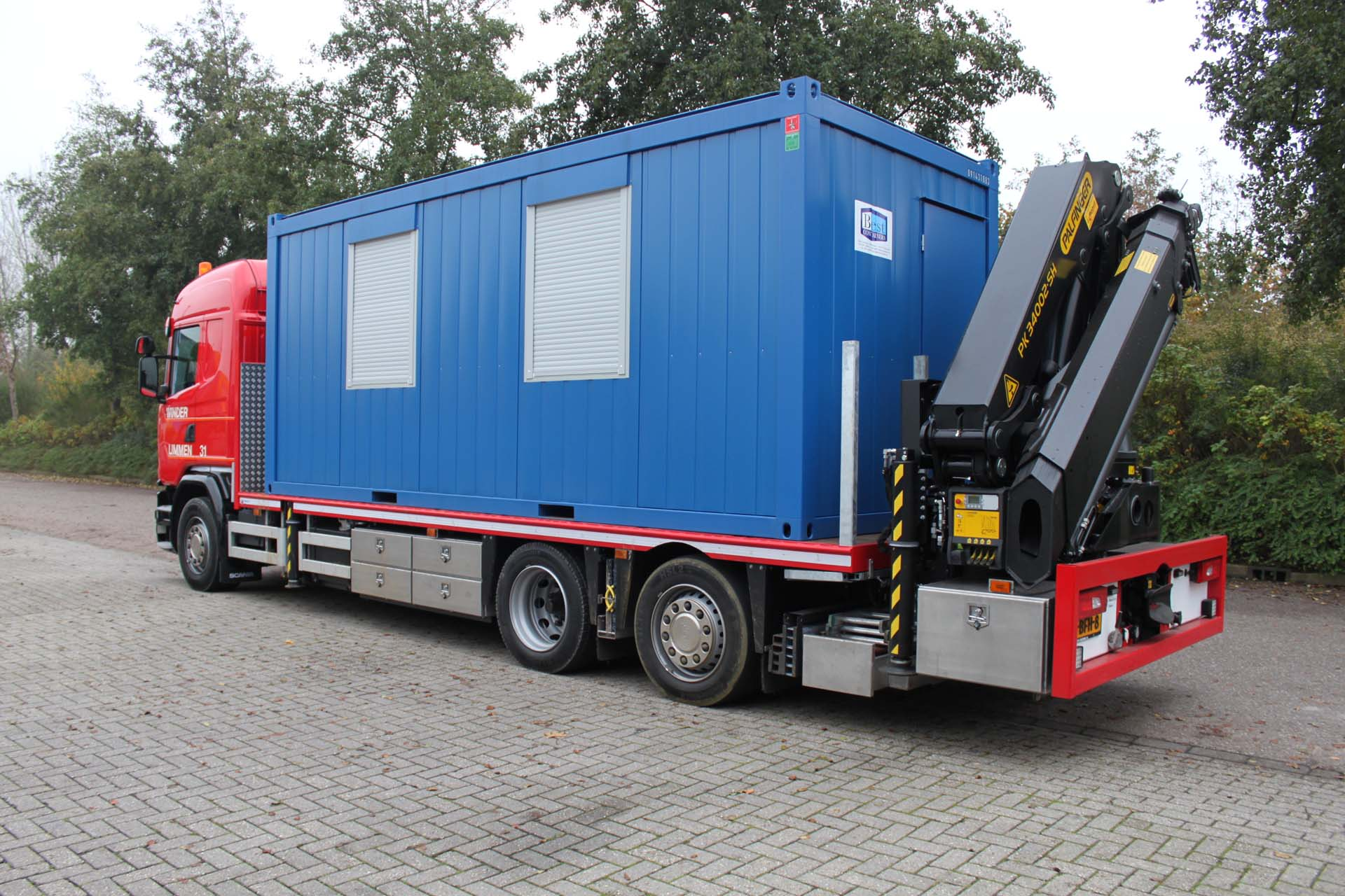 20 ft Kantoorunit op vrachttransport