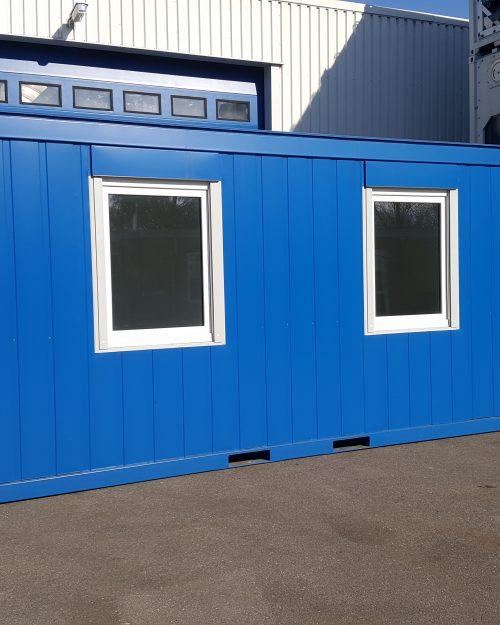 20 ft Kantoorunit lange zijde met 2 ramen