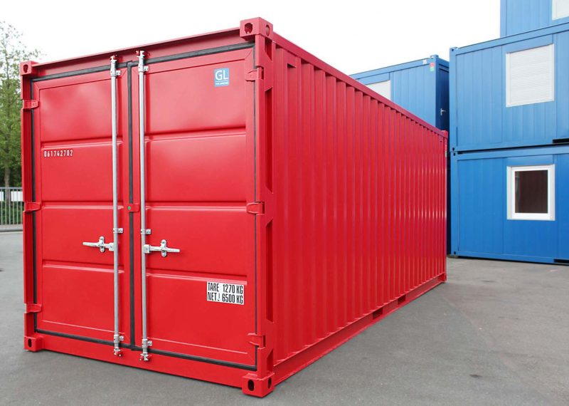 20 ft Opslagcontainer Containex rood