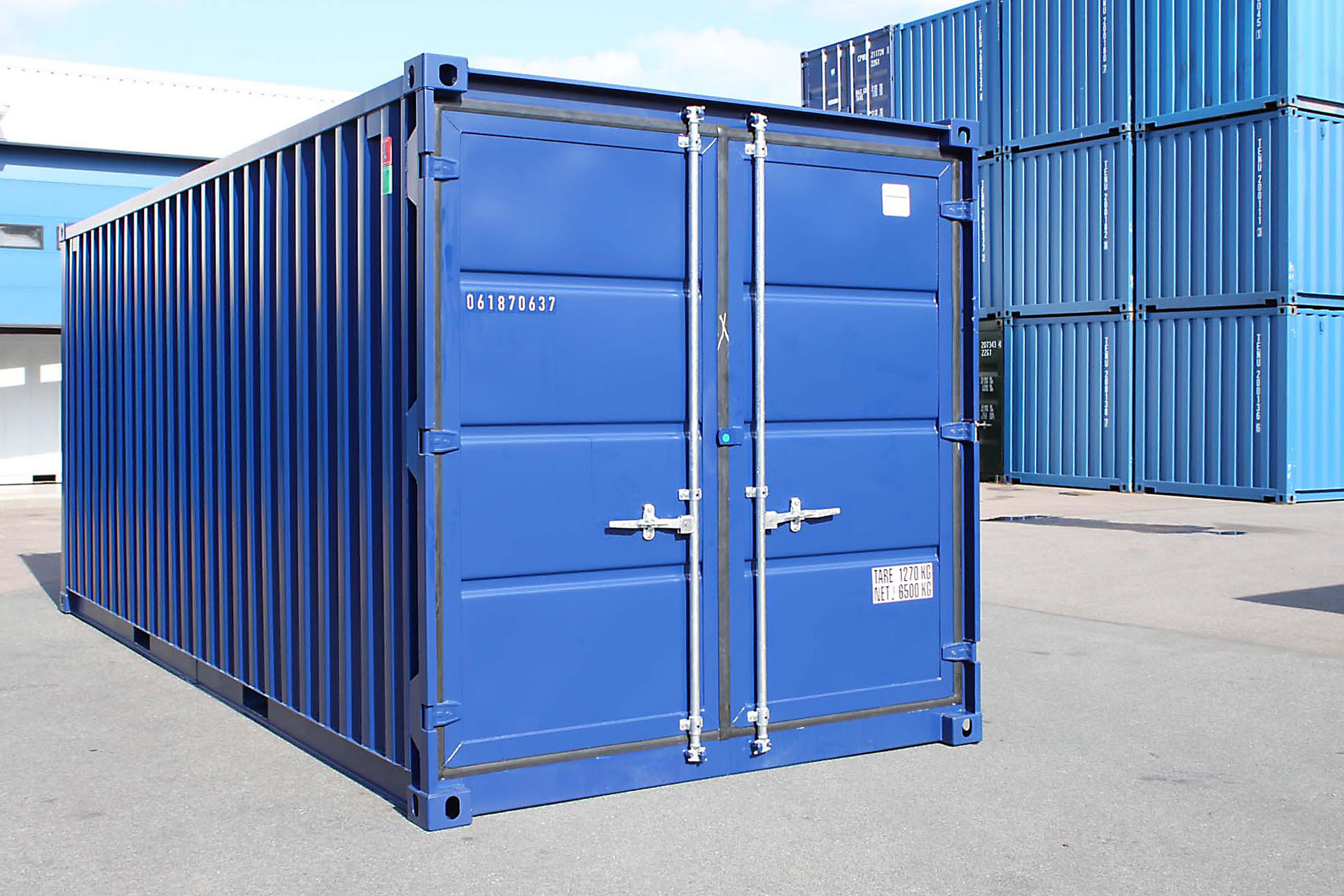 20 ft Opslagcontainer Containex blauw