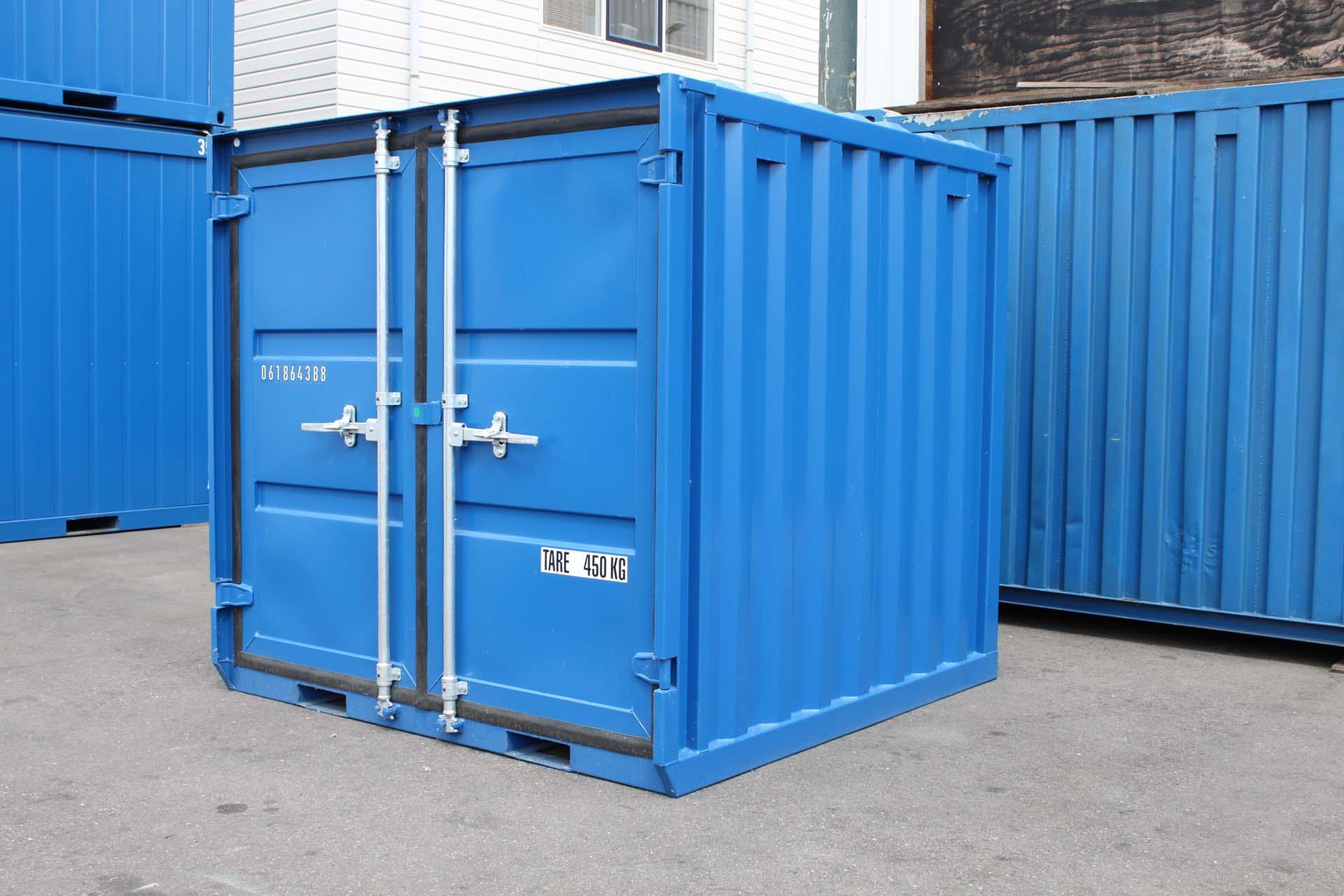 6 ft Opslagcontainer rechtsvoor