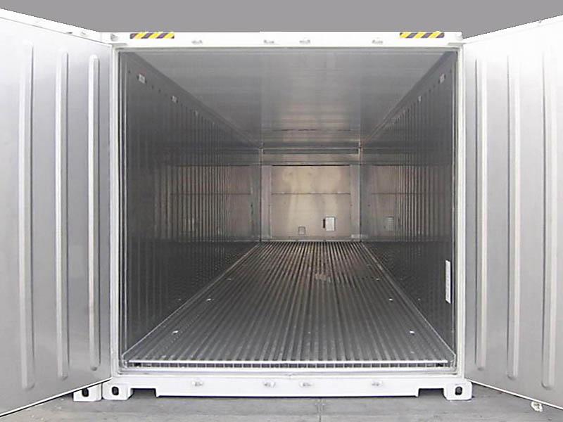 40 ft Reefer interieur met T-bar vloer 3a