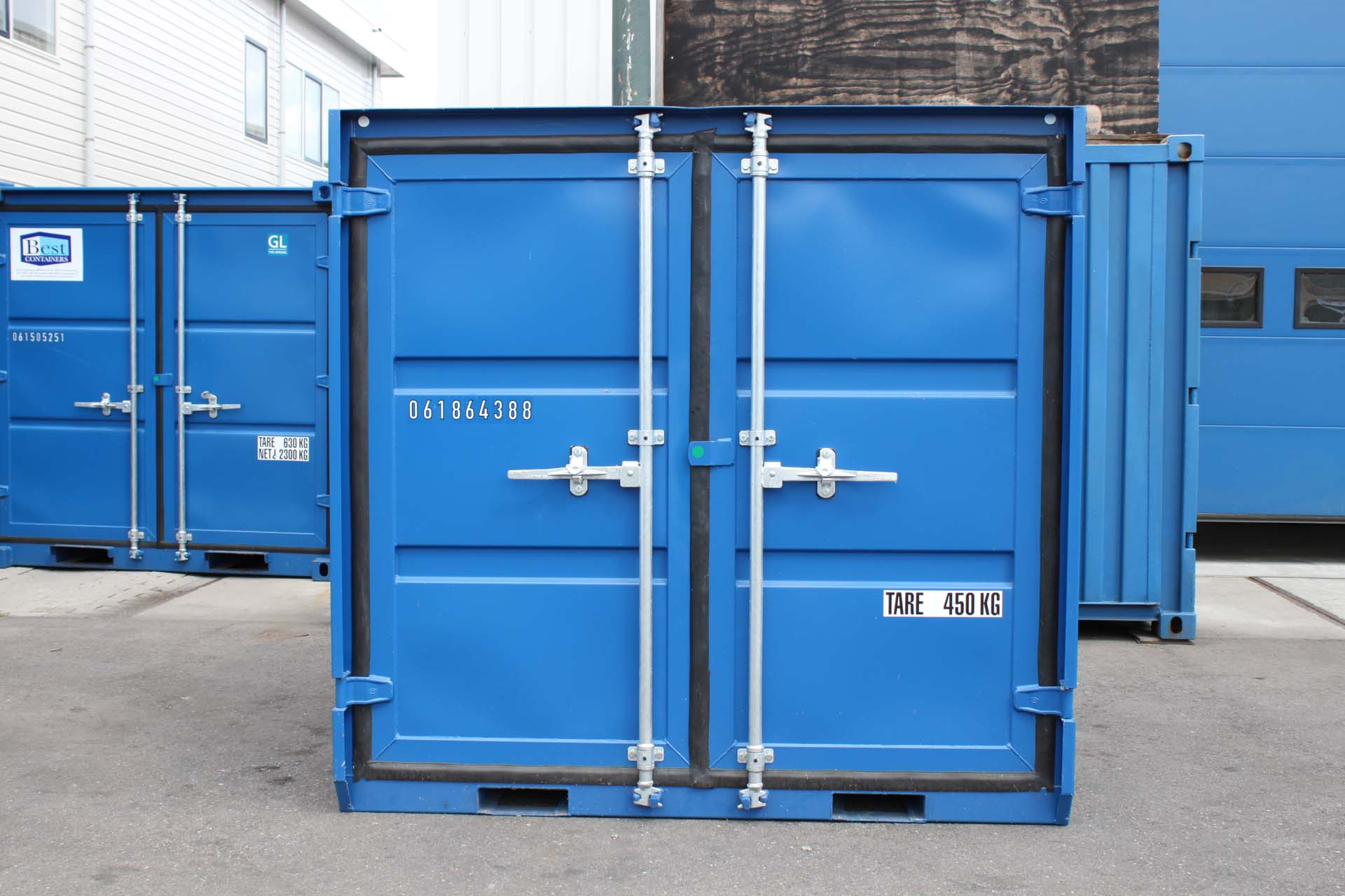 6 ft Opslagcontainer front