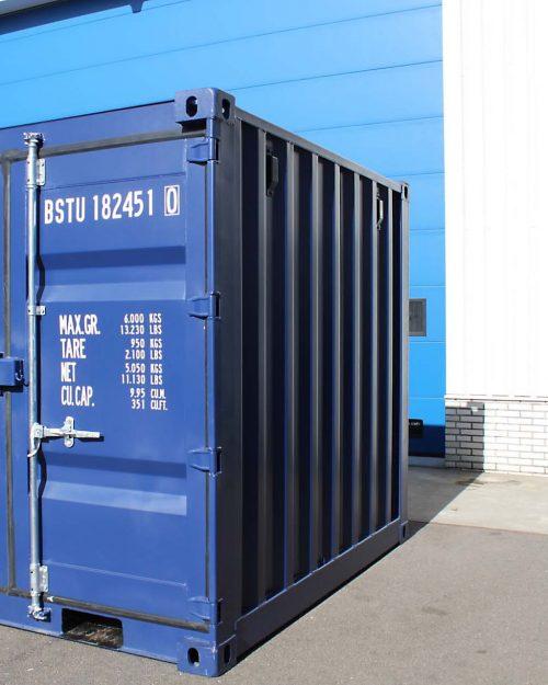 8ft Zeecontainer rechtsvoor