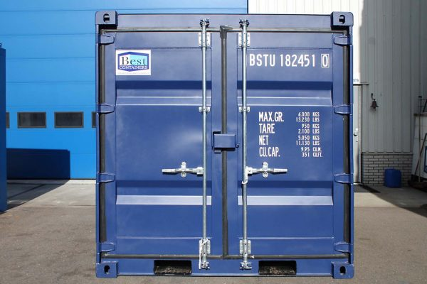 8ft Zeecontainer deuren front