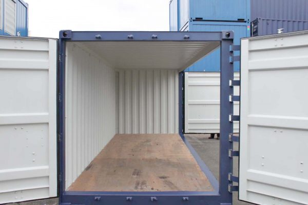 Open-Side-container met alle deuren geopend 14a