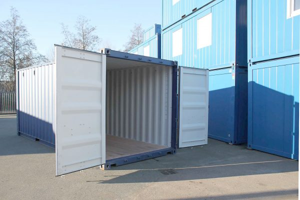 20ft Double Door zeecontainer een zijde open
