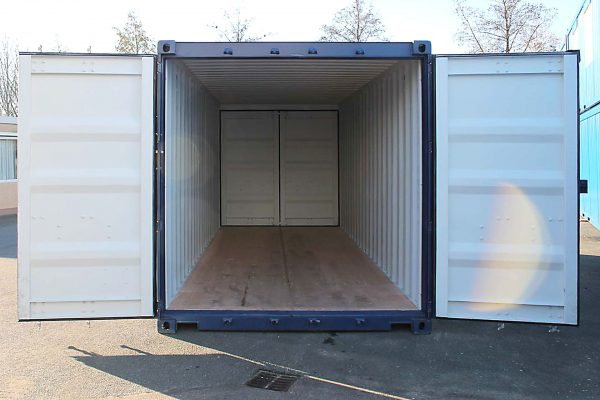 20ft Double door zeecontainer half open