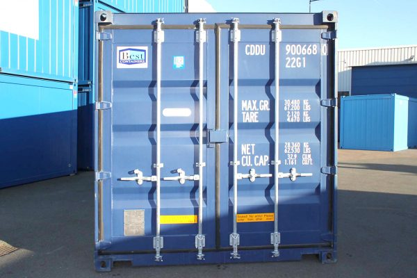 20ft Double Door zeecontainer front