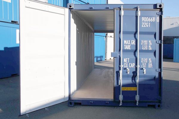 20ft Double Door zeecontainer doorkijk