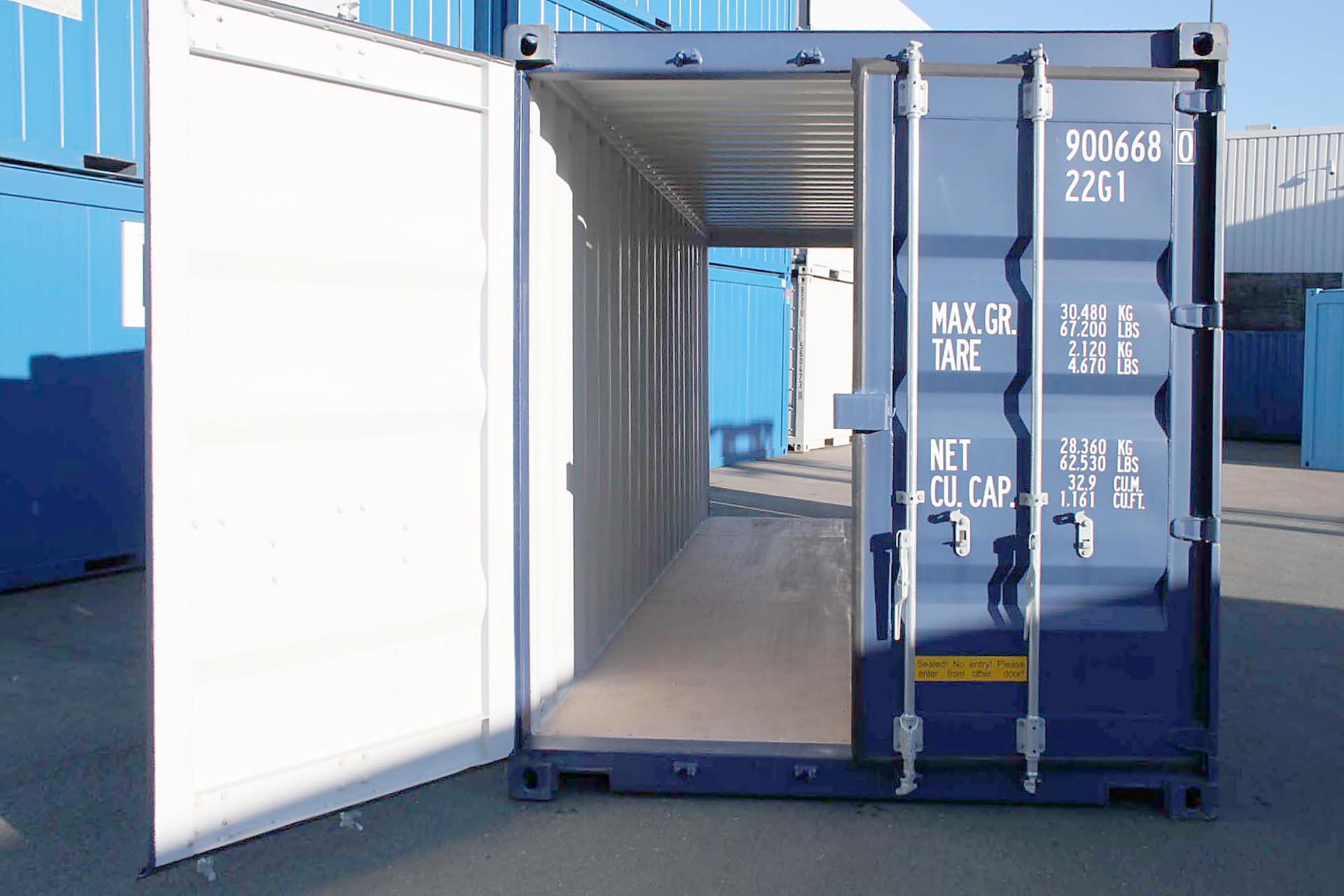 20ft Double Door zeecontainer doorkijk