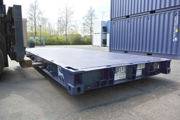 Flat deck voor een 20ft container