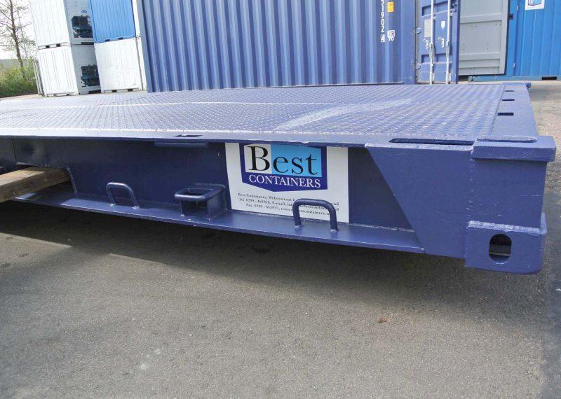 Flat deck voor een 20ft container corner