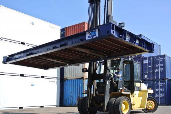 Flat deck voor een 20ft container onderzijde