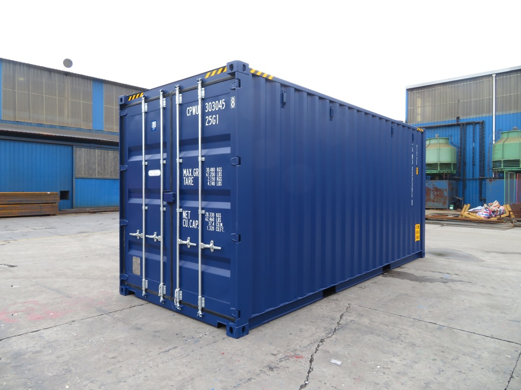 20ft zeecontainer highcube rechterzijde
