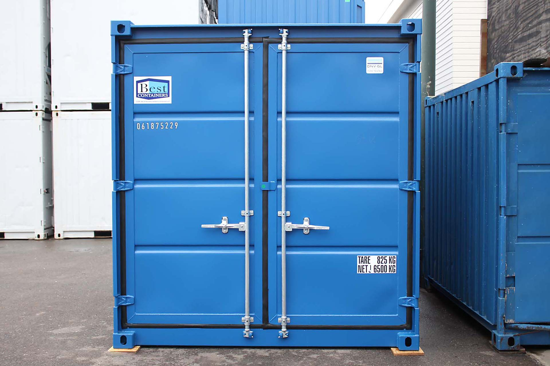 10ft opslagcontainer front