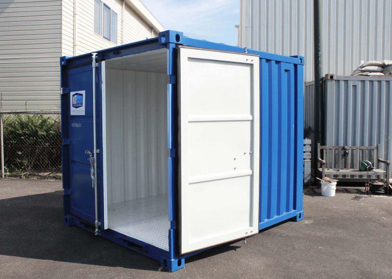8ft opslagcontainer met stalen vloer